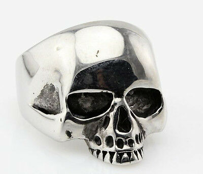 men's jewelry cool men's half skull head solid stainless steel rings 14