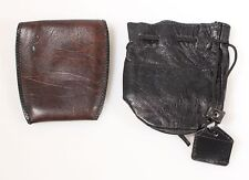 FILTER POUCH, LEATHER AND LENS POUCH, BLACK