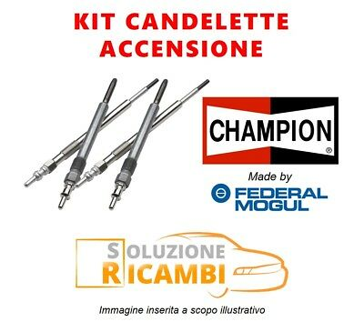 Affidabile Kit 4 Candelette Champion Citroen Jumpy '95-'06 2.0 Hdi 110 80 Kw 109 Cv