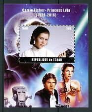 Chad 2016 CTO Carrie Fisher Princess Leia Star Wars 1v M/S Han Solo Stamps