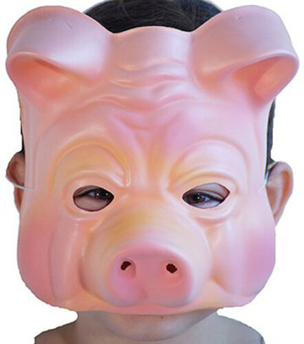 World Book Day-Three Little Pigs-Babe-Sing FOAM PIG MASK Fancy Dress Accessory