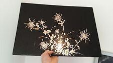 PANNEAU JAPONAIS CADRE CHINOIS LAQUE ASIATIQUE ART DECO ANCIEN VINTAGE 49 X 35