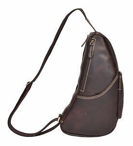 à en à à mode véritable la Sac Nouveau dos Sports bandoulière Sac Brown Casual cuir vintage adgwx1g