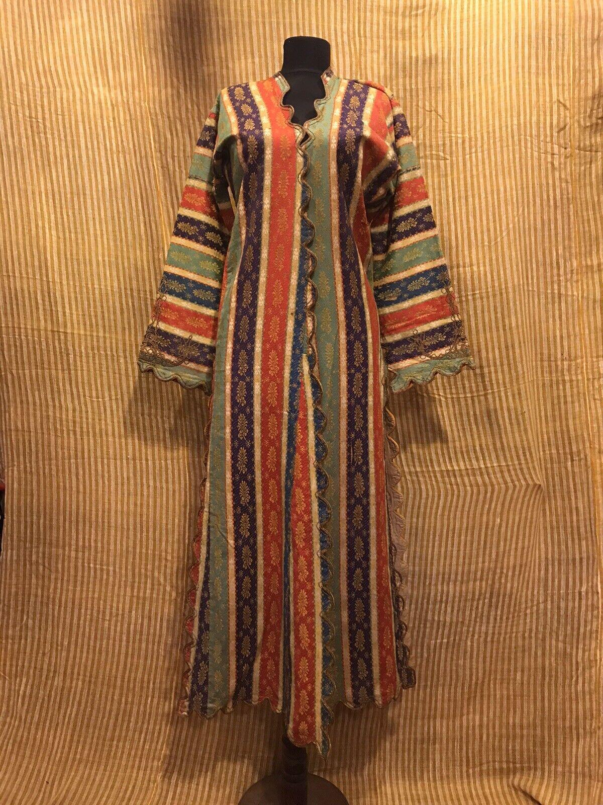 Turkish ottoman silk caftan, vintage chapan, embroidered robe clothes