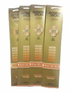 6x-Packs-Gonesh-Classic-Incense-Sticks-Extra-Rich-Musk-20-Stick-Count-Arome