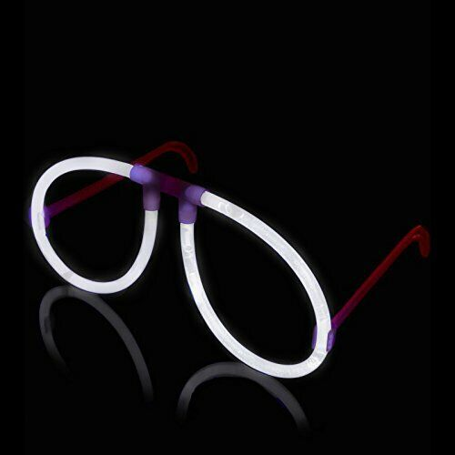 Glowstick Pack With Eyeglases Connectors Lumistick Aviator Glow Eyeglasses