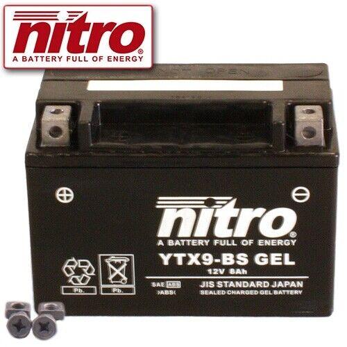 BATTERIA PIAGGIO//VESPA et4 150 anno 2000 NITRO ytx9-bs GEL