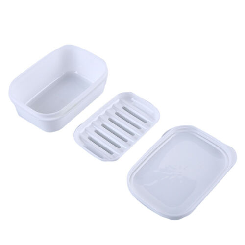 Travel Soap Dish Box Case Holder With Lid Container Wash Shower Home Bathroom