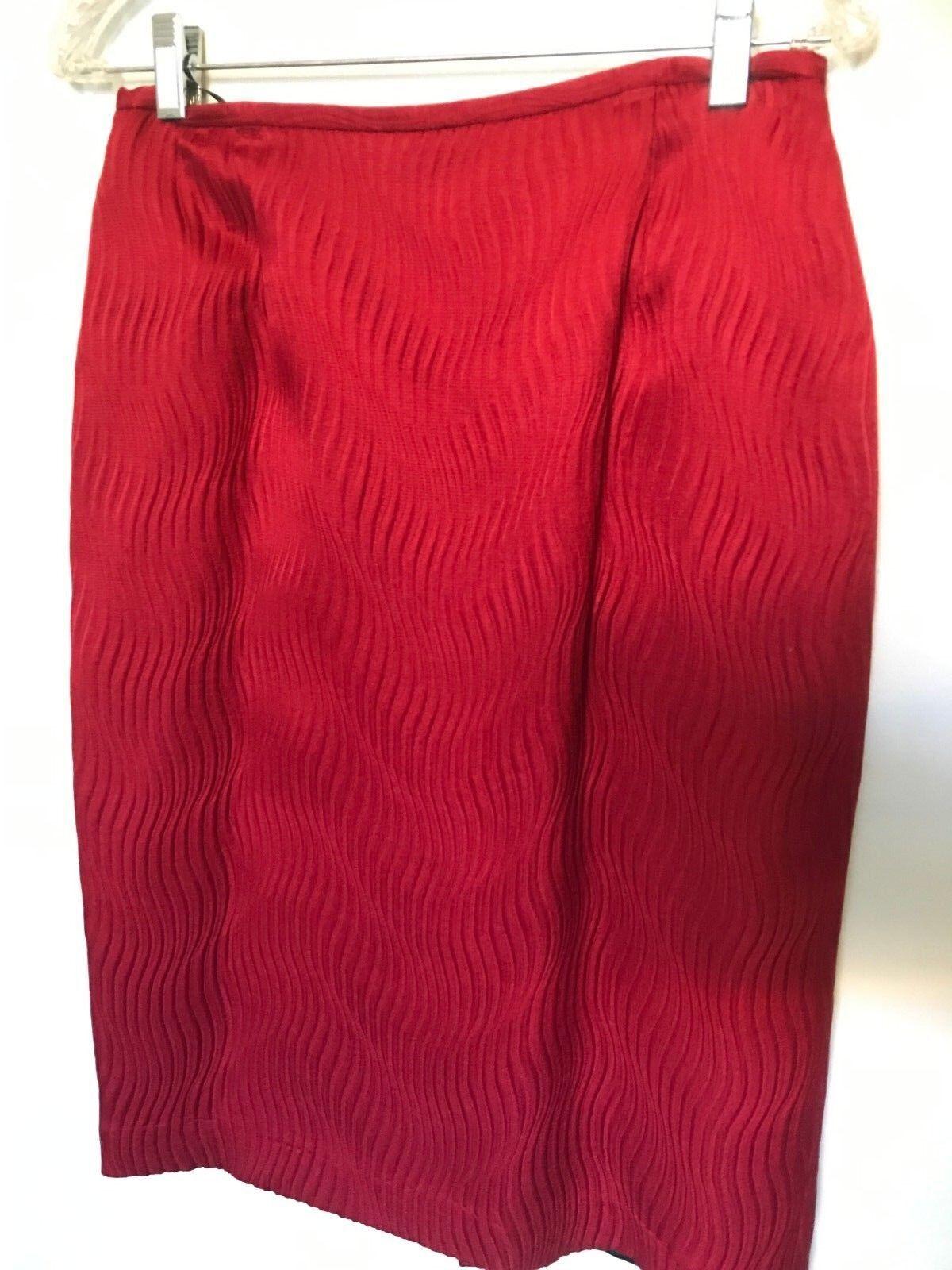 Lafayette 148 Maroon Textured Skirt - Size 8
