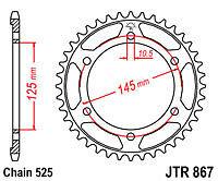 Yamaha TDM850 1999-2001 DID Black X-Ring Chain /& JT Sprockets