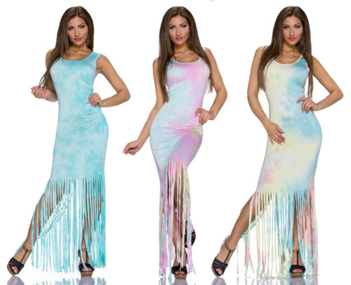 L//XL Sommer Maxikleid Kleid Sommerkleid Cocktailkleid Freizeit Gr S//M