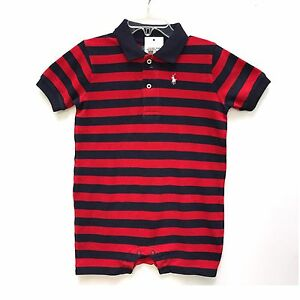 fed593c60695 Image is loading NWT-Boys-Ralph-Lauren-Romper-onesie-age-12-