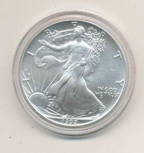 1992 United States, USA, One Dollar Liberty (Eagle) Silver FDC