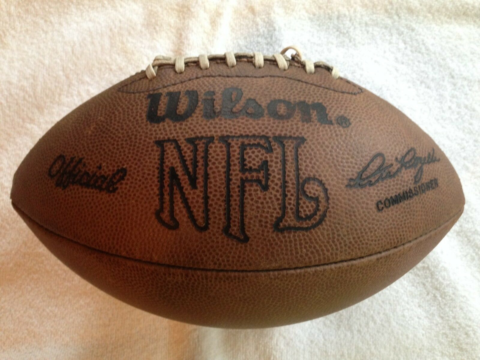 Vintage Wilson NFL Display Game Football Pete Rozelle (Aired-Up), AFC NFC
