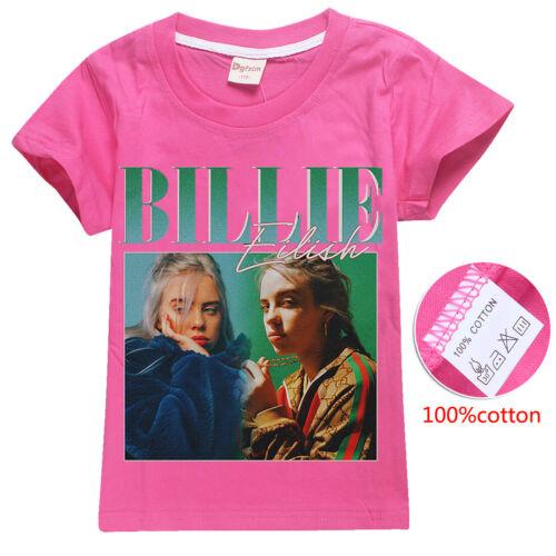 New Billie Eilish Teenager Kids T-shirts tops tshirts T shirts Hip Hop Rock Trap