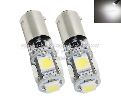2x 8 SMD CANBUS LED PURE WHITE INDICATOR SIDELIGHT REPEATER 233 T4W BA9S BAYONET