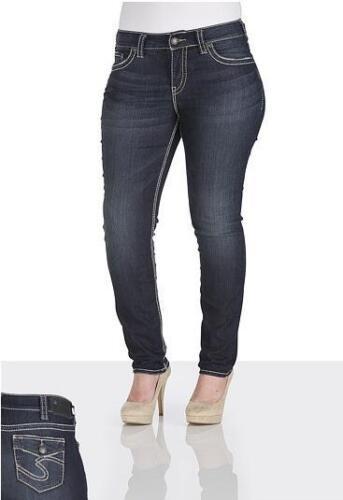 Skinny Suki 20 Taglie Nuovo forti Taglie Stretch Jeans Silver 14 qwnd4Cw5