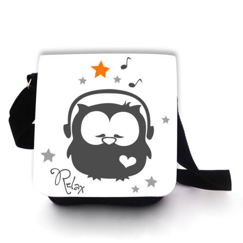 Tasche Handtasche Schultertasche Kinder Musikeule Eule Eulentasche kt76