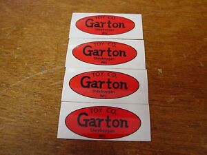 NEW GARTON PEDAL CAR SEAT LABLES (4)