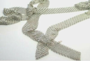 Tiffany-amp-Co-Peretti-Mesh-Scarf-Necklace-XL-Extra-Long-51-034-Sterling-Silver-Rare