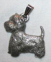 Westie West Highland Terrier Dog Harris Fine Pewter Pendant Usa Made