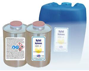 Xylol-Xylenes-1000-ml-Blechflasche-Lackverduenner-Loesungsmittel-Entfettungsmittel