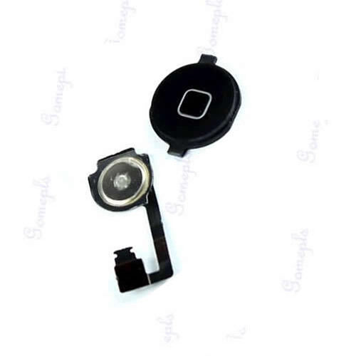 Replacement Home Button Key With Repair Part Flex Cable For iphone 4G Black