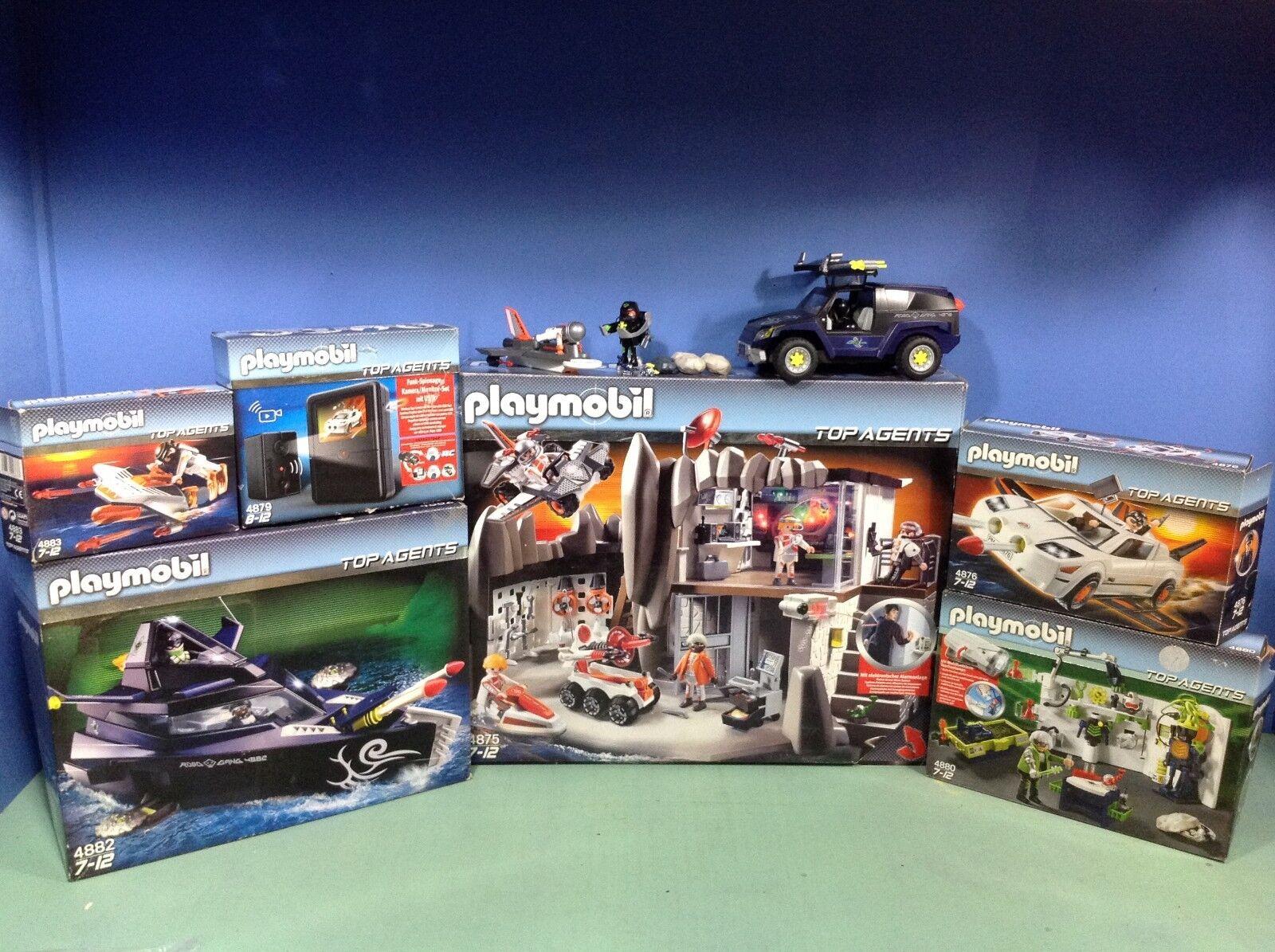(P4875) playmobil série top agent 4875 4876 4880 4882 4883 5287 4879 4878 4877