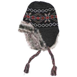 240a1975e7a Peru Puno Warm Knitted Winter Mens Hat Cold Weather Beanie Fur ...