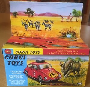 Corgi-256-Volkswagen-1200-East-African-Safari-Interno-Externo-REPRO-Caja-Vacia-solo