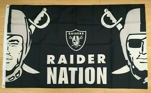 Las Vegas Raiders Nation 3x5 Ft Flag Banner Nfl Oakland Ebay