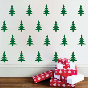 image is loading christmas trees wall decals wallpaper christmas wall and - Christmas Wall Decal