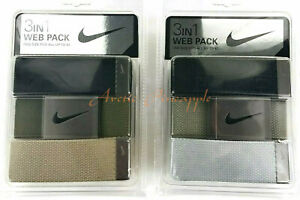 Nike-3-in-1-Web-Belt-Pack-One-Size-Fits-All-Up-To-42-034-Multi-Colors-NWT-MSRP-30