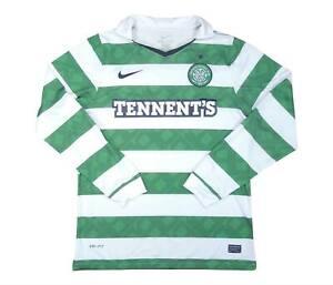 Celtic 2010-12 HOME ORIGINALE CAMICIA L/S Mulgrew # (VUOTO) (BUONO) L soccer jersey