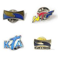 Taekwondo Badges 2pcs Lot Kkw Wtf Fta 3 Types Butterfly Clutch Tkd Mma Gift Deco
