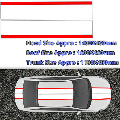 3PCS Auto Car Roof Trunk Cover Side Door Leaf board Decals Vinyl Stripe Stickers