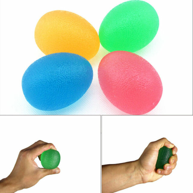 Egg Stressball Hand Finger Exercise Stress Relief Ball Toy Autism Mood Squeeze
