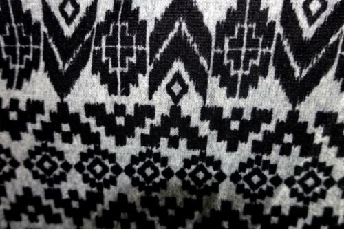 Ultra Teeze Women Plus Size 1x 2x 3x Gray Black Aztec Sweater Top Shirt Hi Lo