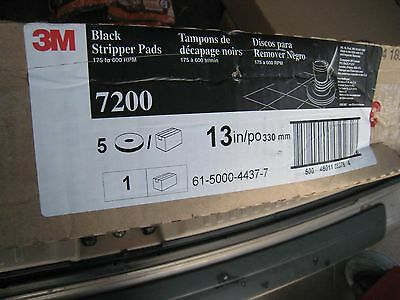 3M 7200 Stripping Pad 13 In PK 5 Floor Buffer Stripping Burnisher Black