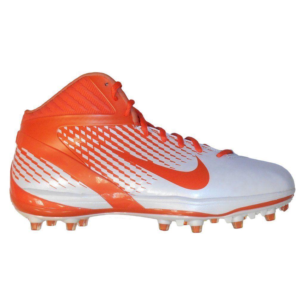 best website 63ee5 9b335 Details about NIKE ALPHA TALON TD 3 4 Mid Football Lacrosse Cleats Shoes  Orange White SIZE 16