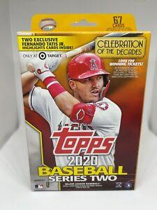 2020 Topps Baseball Series 2 Factory Sealed 67 Card Hanger Box