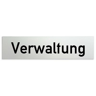 "Aluminium Schild /""Verwaltung/"" 160 x 40 mm • Türschild Büro Geschäftsleitung"