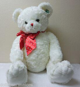 "NWT! Bearington Bears 30"" ""LOTS OF LOVEABLE"" Valentine's Day Bear. White. MINT!"