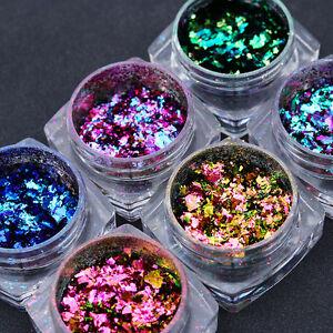 BORN-PRETTY-Chameleon-Nail-Glitter-Sequins-Irregular-Paillette-Laser-Powder-Tips