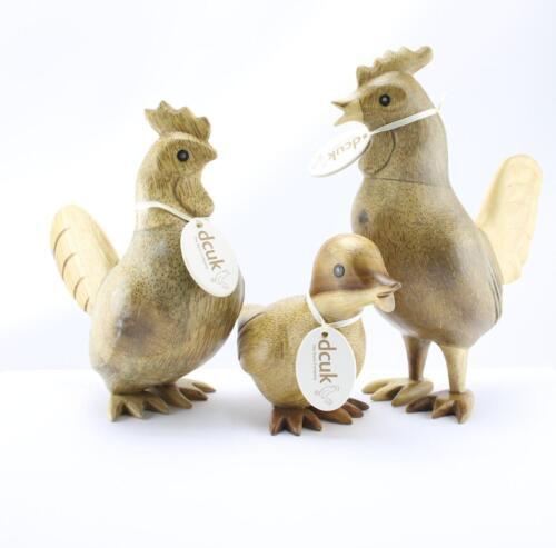 dcuk natural wood cockerel hen chicken