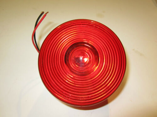 """GROTE 50852 4/"""" RED TWO-STUD STOP//TAIL//TURN LAMP LOT OF 2"""