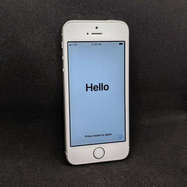 Apple iPhone SE - 128GB - White/Silver (Factory Unlocked) A1662 1st gen