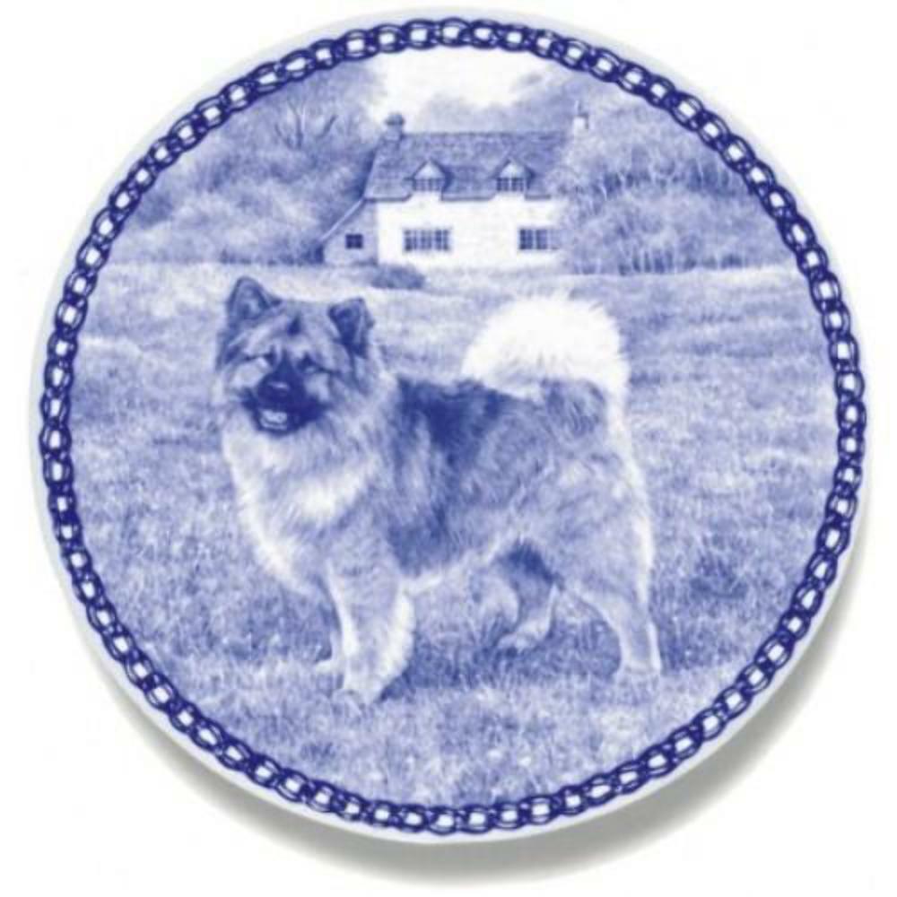Eurasian - Dog Plate made in Denmark from the finest European Porcelain