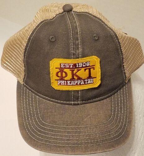 Phi Kappa Tau Gray Baseball Cap Adjustable Hat