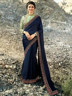 Other Women's Clothing Bollywood Saree Ethnic Kanchipuram Wear Party Embroidery Wedding Ethinic Fancy Soft And Light Clothing, Shoes & Accessories